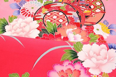 画像3: ■【最高級】 花模様 ボカシ 鼓 女児 七五三 お宮参り 正絹 祝着物■