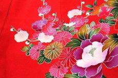 画像5: ■【最高級】「染め分け-金駒刺繍」 花柄 女児 七五三 お宮参り 正絹 祝着物■ (5)