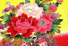 画像2: ■【最高級】「染め分け-金駒刺繍」 花柄 女児 七五三 お宮参り 正絹 祝着物■ (2)
