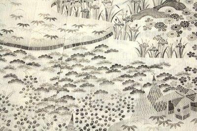 画像3: ■「本場小千谷紬織物-古志乃」 大新織物 茶屋辻之図 夏物 訪問着■