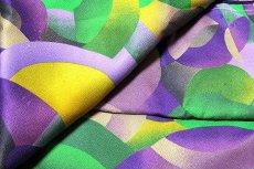 画像5: ■「釜座-KAMANZA」 モダンでオシャレな 染め分け 総柄 小紋柄 ジュニア 十三参り 正絹 着物■ (5)