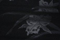画像5: ■京都西陣織 「豊永謹製」 喪服帯 【夏冬ペアセット-2本組】 水仙 黒共帯 全通 袷 絽 九寸 正絹 名古屋帯■ (5)