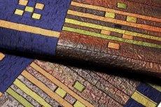 画像4: ■「おり歳時記-漆段彩」 匠工芸謹製 緑印 正絹 8寸 本場筑前博多織 名古屋帯■ (4)