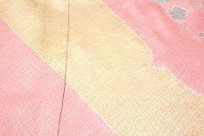 画像5: (訳ありアウトレット品)■染め分け 絞り入り 華やかな 利休織 一越綸子生地 訪問着■ (5)