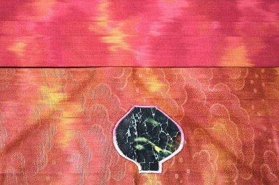 画像3: (訳ありアウトレット品)■「仕立て上がり」 きりばめ 地紋 刺繍入り 9寸 名古屋帯■