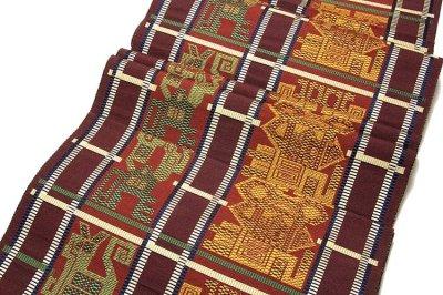 画像3: ■「松装織物謹製-緑印」 はかたの華 正絹 本場筑前博多織 8寸 名古屋帯■