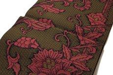 画像3: ■「豊原織物謹製-緑印」 はかたの華 正絹 本場筑前博多織 8寸 名古屋帯■ (3)