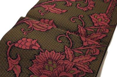 画像2: ■「豊原織物謹製-緑印」 はかたの華 正絹 本場筑前博多織 8寸 名古屋帯■