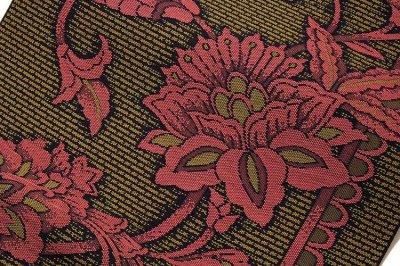 画像3: ■「豊原織物謹製-緑印」 はかたの華 正絹 本場筑前博多織 8寸 名古屋帯■