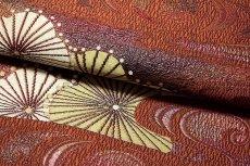 画像4: ■「彩紀行-観世菊」 黒木織物謹製 緑印 正絹 本場筑前博多織 8寸 名古屋帯■ (4)
