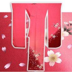 画像2: (訳ありアウトレット品)■「仕立て上がり-正絹」 華やか 桜尽くし ボカシ 振袖■ (2)
