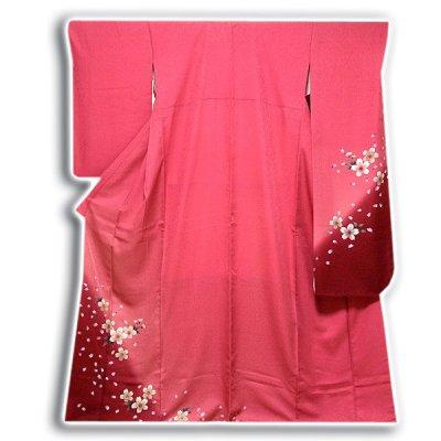 画像1: (訳ありアウトレット品)■「仕立て上がり-正絹」 華やか 桜尽くし ボカシ 振袖■