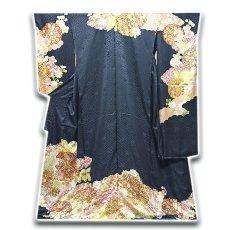 画像1: ■「本加工」 ふんだんに施された見事な金駒刺繍 金彩加工 地紋 最高級 振袖■ (1)