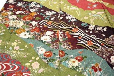 画像1: ■染め分け 金駒刺繍 金彩加工 たたき染め 華やかで豪華な 振袖■