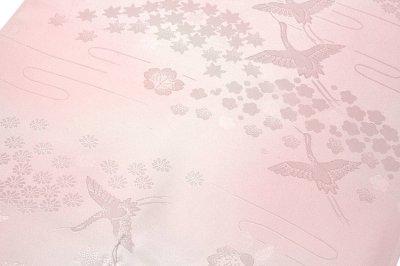 画像2: ■「振袖用」 飛び鶴 流水 梅 ボカシ 正絹 長襦袢■