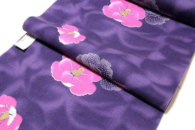 画像2: ■「華の女」 四季の花木染 クインサイズ 日本製 反物 浴衣■