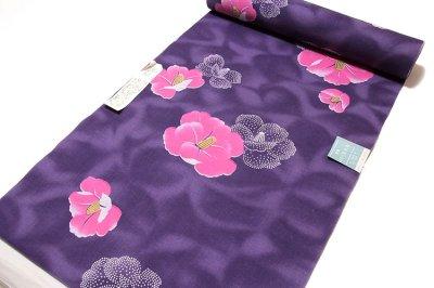 画像1: ■「華の女」 四季の花木染 クインサイズ 日本製 反物 浴衣■