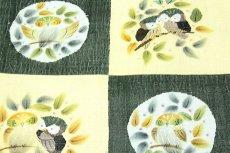 画像3: ■「仕立て上がり-正絹」 太鼓柄 柿渋染 手織紬 袋帯■ (3)