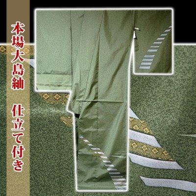 画像1: ■手縫い仕立て付き 本場大島紬 「薩摩染織謹製」 タタキ染め 訪問着■