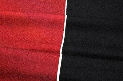 画像2: ■リバーシブル 礼装 カジュアル&フォーマル 黒地 正絹 羽尺 和装コート■