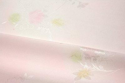 画像1: ■【訳あり】美しい花柄にボカシ染め 玉ゆら 丹後ちりめん 正絹 長襦袢■