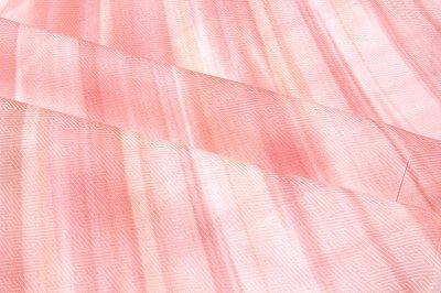 画像2: ■【訳あり】オシャレで美しいボカシ ピンクベージュ色系 正絹 長襦袢■
