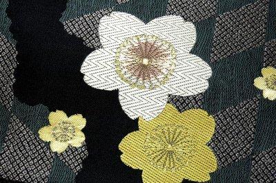 画像3: ■京都西陣織「田中織物謹製」 振袖にも サクラ柄 正絹 袋帯■