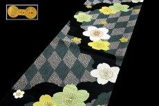 画像2: ■京都西陣織「田中織物謹製」 振袖にも サクラ柄 正絹 袋帯■ (2)