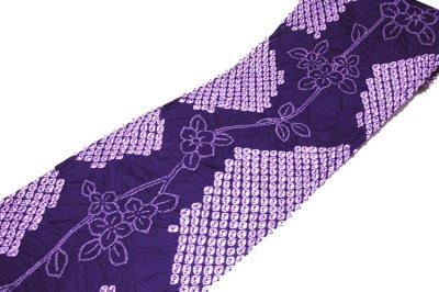 画像2: ■伝統工芸品 有松鳴海絞り 青紫色 最高級 浴衣■