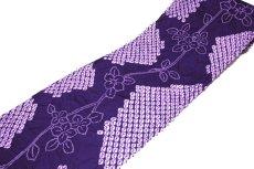 画像3: ■伝統工芸品 有松鳴海絞り 青紫色 最高級 浴衣■ (3)