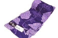 画像2: ■伝統工芸品 有松鳴海絞り 青紫色 最高級 浴衣■ (2)