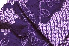 画像4: ■伝統工芸品 有松鳴海絞り 青紫色 最高級 浴衣■ (4)