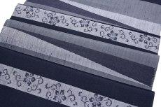 画像3: ■「十日町-老舗-蕪重織物謹製」 伝統的工芸品 夜想曲 伝統工芸士【庭野真平作】 正絹 紬■ (3)