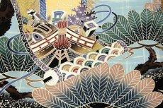 画像4: ■「ブック付き-龍にかぶと柄」 日本製 染め分けボカシ 宝尽くし 吉祥文様 男児 七五三 正絹 祝着物■ (4)