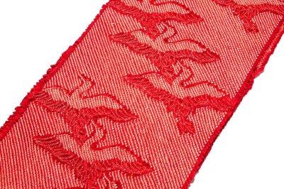 画像1: ■「総絞り-飛び鶴」 振袖に最適 正絹 帯揚げ 金糸織 丸組 帯締め セット■