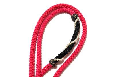 画像3: ■「総絞り」 振袖に最適 正絹 帯揚げ 金糸織 飾りつき 丸組 帯締め セット■