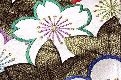 画像3: ■【お仕立て付き 帯芯代込み】【訳あり】「京都:細尾」 振袖に最適 黒地に金糸 正絹 袋帯■