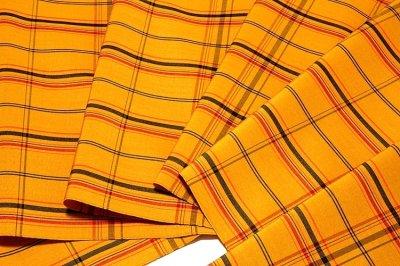 画像3: ■「日本製」 格子柄 オシャレな 黄八 アンサンブル 羽織 着物 正絹 紬■