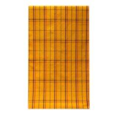 画像1: ■「日本製」 格子柄 オシャレな 黄八 アンサンブル 羽織 着物 正絹 紬■ (1)