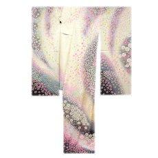 画像2: ■十日町友禅老舗「関芳謹製」 絞り染め ボカシ 銀通し加工 正絹 高級 逸品 振袖■ (2)