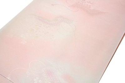 画像1: ■【訳あり】 細やかな地紋 ボカシ染め 正絹 長襦袢■
