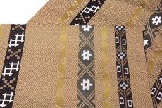 画像4: ■京都西陣織「三幸織物謹製」 地紋 オシャレな 正絹 九寸 名古屋帯■ (4)