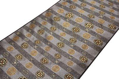 画像1: ■上品な グレー色系 細やかな柄行き 正絹 九寸 名古屋帯■