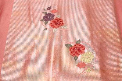 画像3: ■京都西陣織「よこくに謹製」 引箔 可愛らしい花柄 オシャレ 正絹 九寸 名古屋帯■