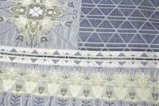 画像4: ■京都西陣織 「大光織物謹製」 正倉院 唐草花文様 薄い紺鼠色系 単衣着物や夏着物に最適 単衣 夏物 正絹 袋帯■ (4)
