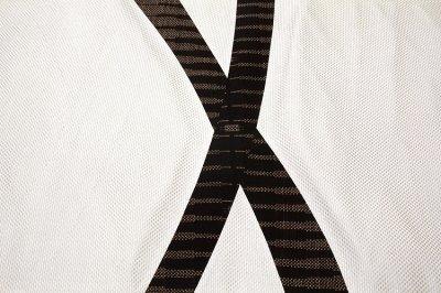 画像3: ■「伝統技法:きりばめ」 切嵌め パッチワーク風 絣模様 浮き織り 正絹 九寸 高級 名古屋帯■