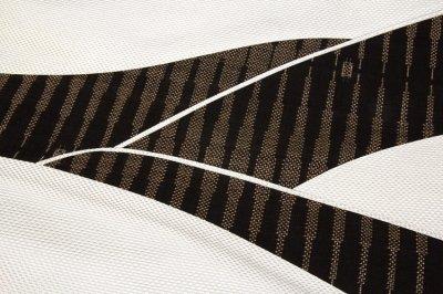 画像2: ■「伝統技法:きりばめ」 切嵌め パッチワーク風 絣模様 浮き織り 正絹 九寸 高級 名古屋帯■