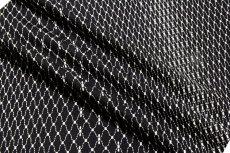 画像4: ■黒地 粋でオシャレな 網目模様 地紋 正絹 小紋■ (4)