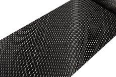 画像2: ■黒地 粋でオシャレな 網目模様 地紋 正絹 小紋■ (2)