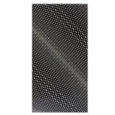 画像1: ■黒地 粋でオシャレな 網目模様 地紋 正絹 小紋■ (1)